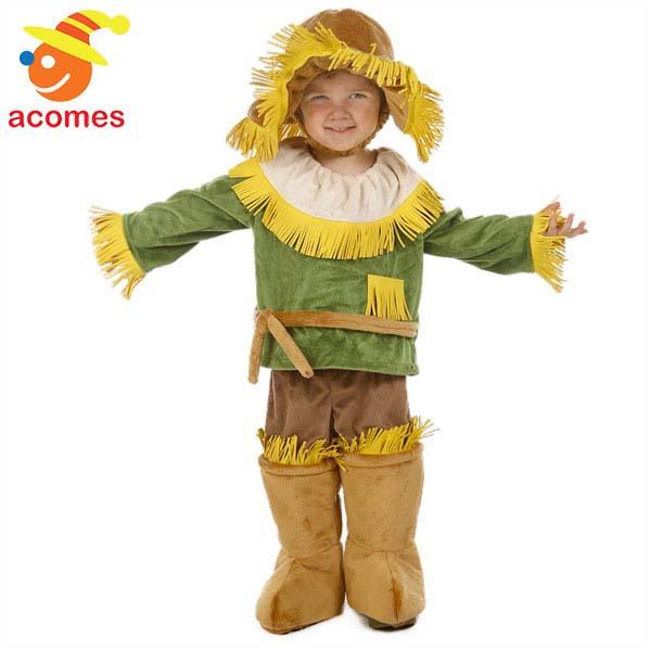 オズの魔法使い 子供 衣装 かかし ハロウィン 幼児 コスプレ コスチューム イベント パーティー 案山子