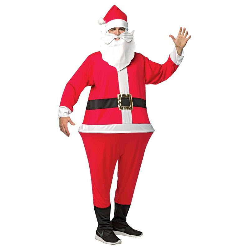 おもしろい サンタ 服 衣装 大人用 フラフープサンタさん クリスマス おもしろコスプレ コスチューム サンタクロース