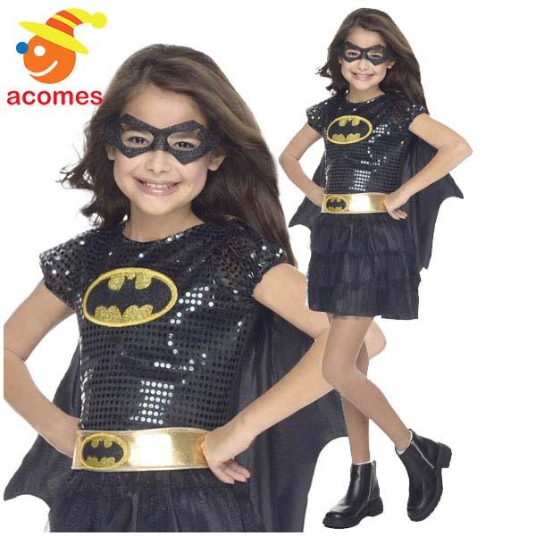 バットマン バットガール コスプレ コスチューム 女の子用 子供用 スーパーヒーロー アメコミ ハロウィン 仮装 衣装