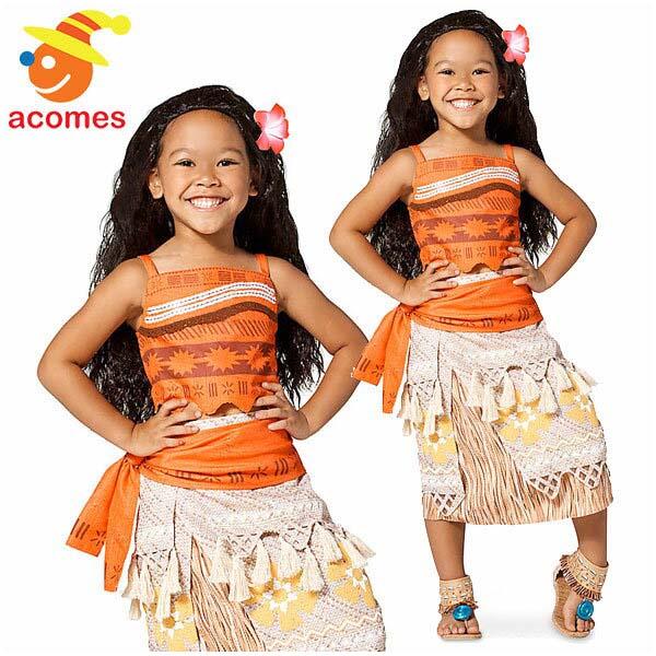 ディズニー コスチューム 子供 映画 モアナと伝説の海 モアナ コスプレ 女の子用 キッズ ハロウィン 仮装 衣装