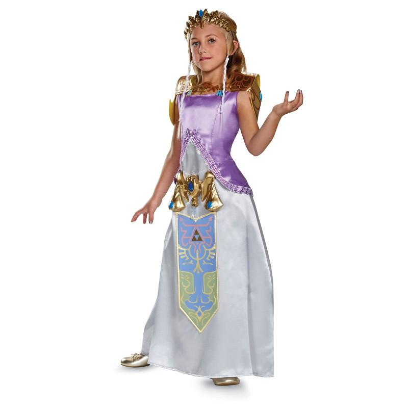 ゼルダ 姫 コスプレ 衣装 子供用 ゼルダの伝説 デラックス コスチューム ハロウィン クリスマス イベント パーティー テレビゲーム