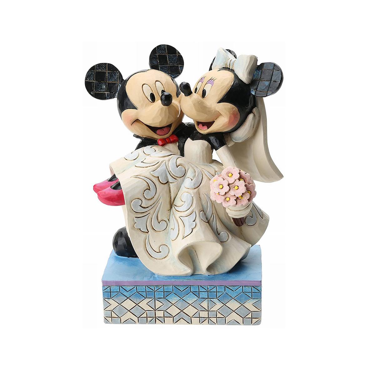 ミッキー ミニー 結婚式 フィギュア お姫様抱っこ ディズニー 人形 彫刻 ジムショア エネスコ 置物 陶器 インテリア