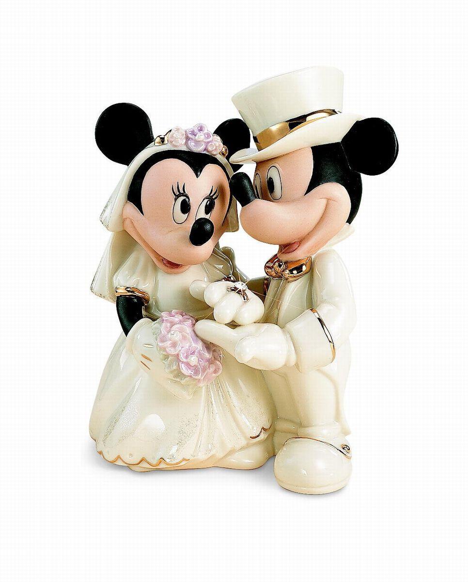 ミッキー ミニー 結婚式 フィギュア 愛の誓い ディズニー 人形 彫刻 LENOX レノックス 置物 陶器 インテリア 24金