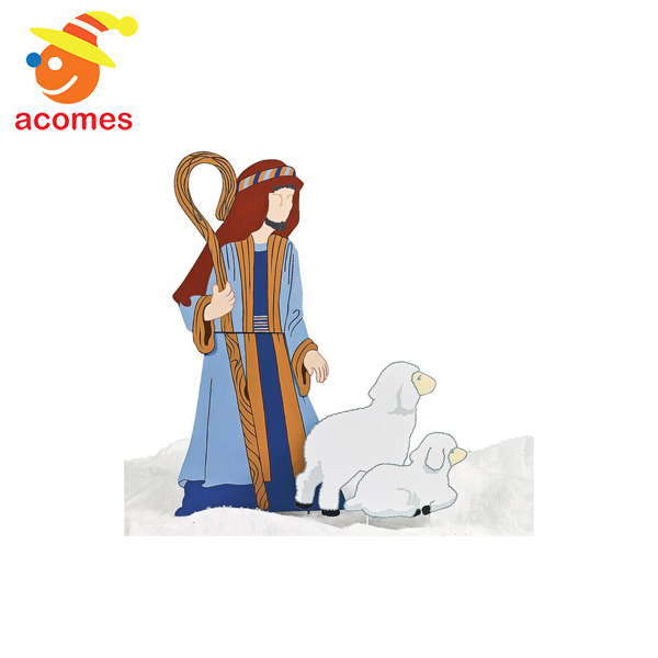 羊飼い & 羊 庭 飾り クリスマス イベント パーティー 降誕劇