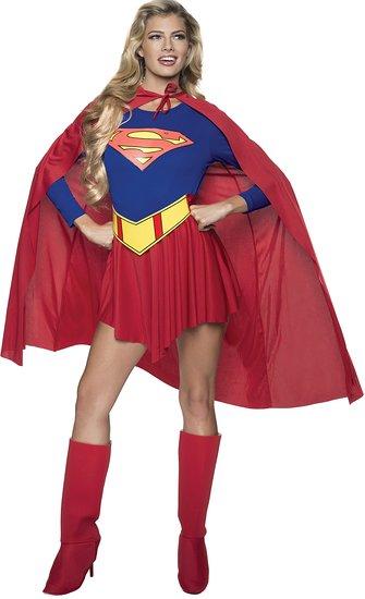 スーパーマン 大人 女性 コスチューム スーパーガール コスプレ スーツ アメコミ 仮装  あす楽