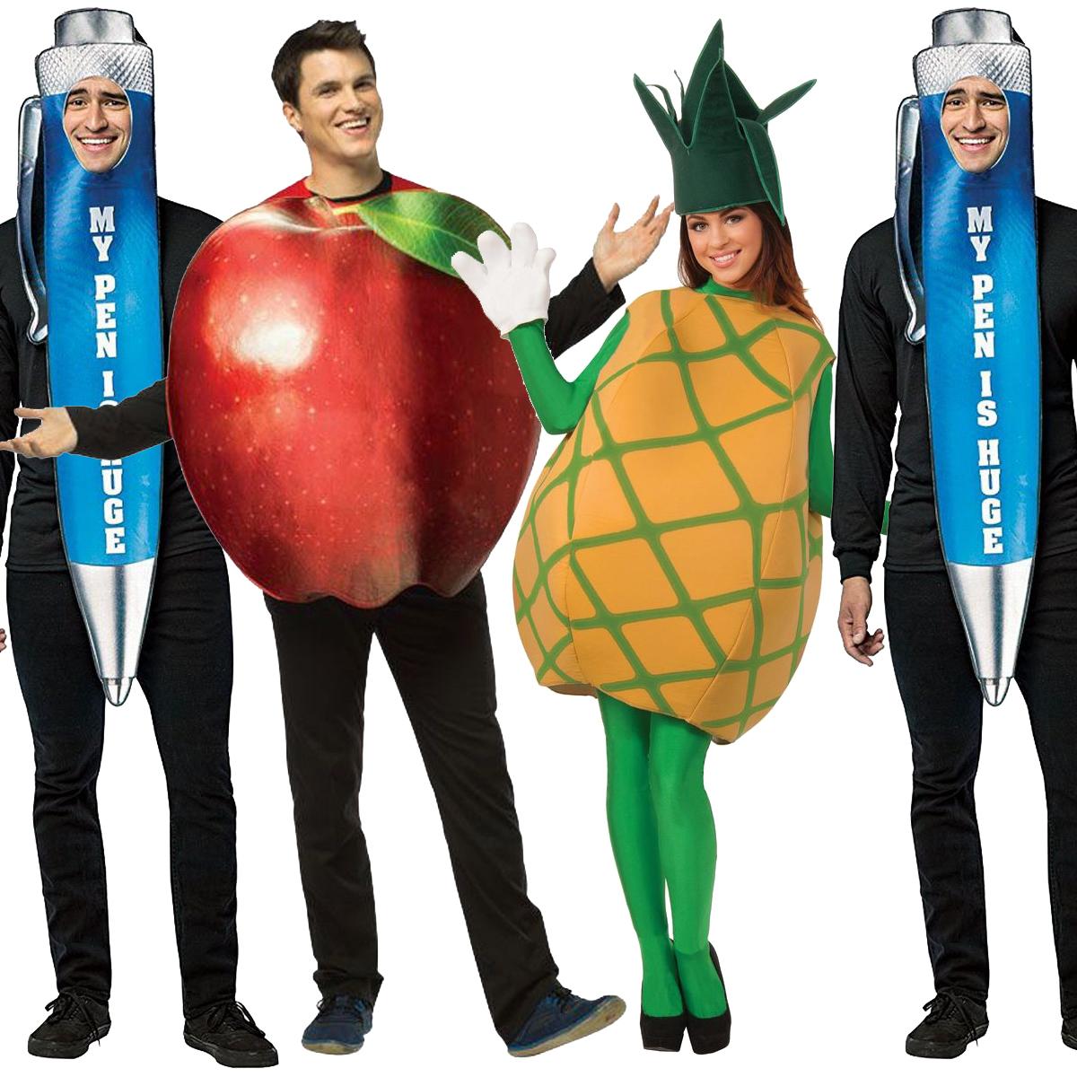 PPAP 衣装 ペンパイナッポーアッポーペン コスチューム おもしろコスプレ 4点 セット ハロウィン 忘年会 宴会 グループ グッズ ペン りんご パイナップル