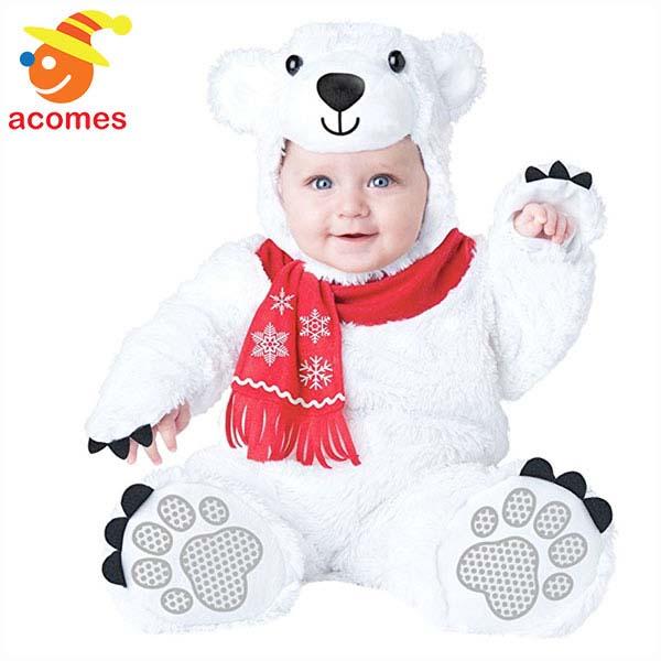 ベビー シロクマ 衣装 赤ちゃん 着ぐるみ コスチューム クリスマス ハロウィン イベント パーティー 出産祝い