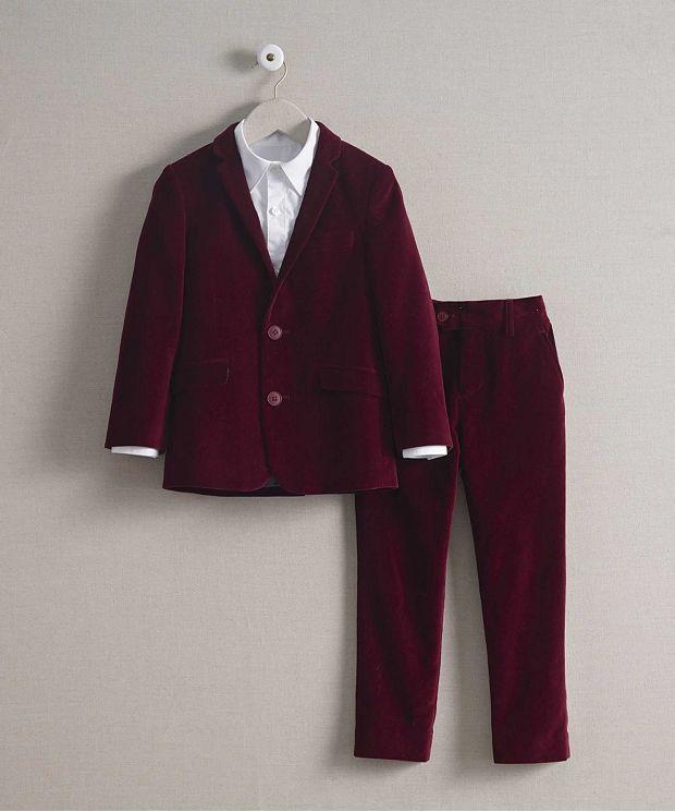 子供 スーツ ドレス ベルベット 高級 上質 ワインレッド 男の子 発表会 衣装 フォーマル