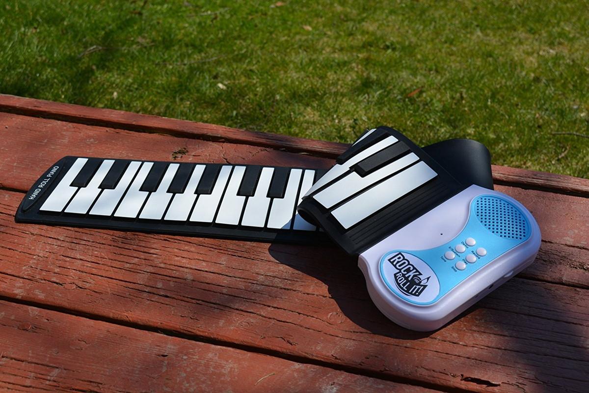 電子ピアノ 48鍵 持ち運べる ポータブル 折りたたみ式 楽器 おもちゃ