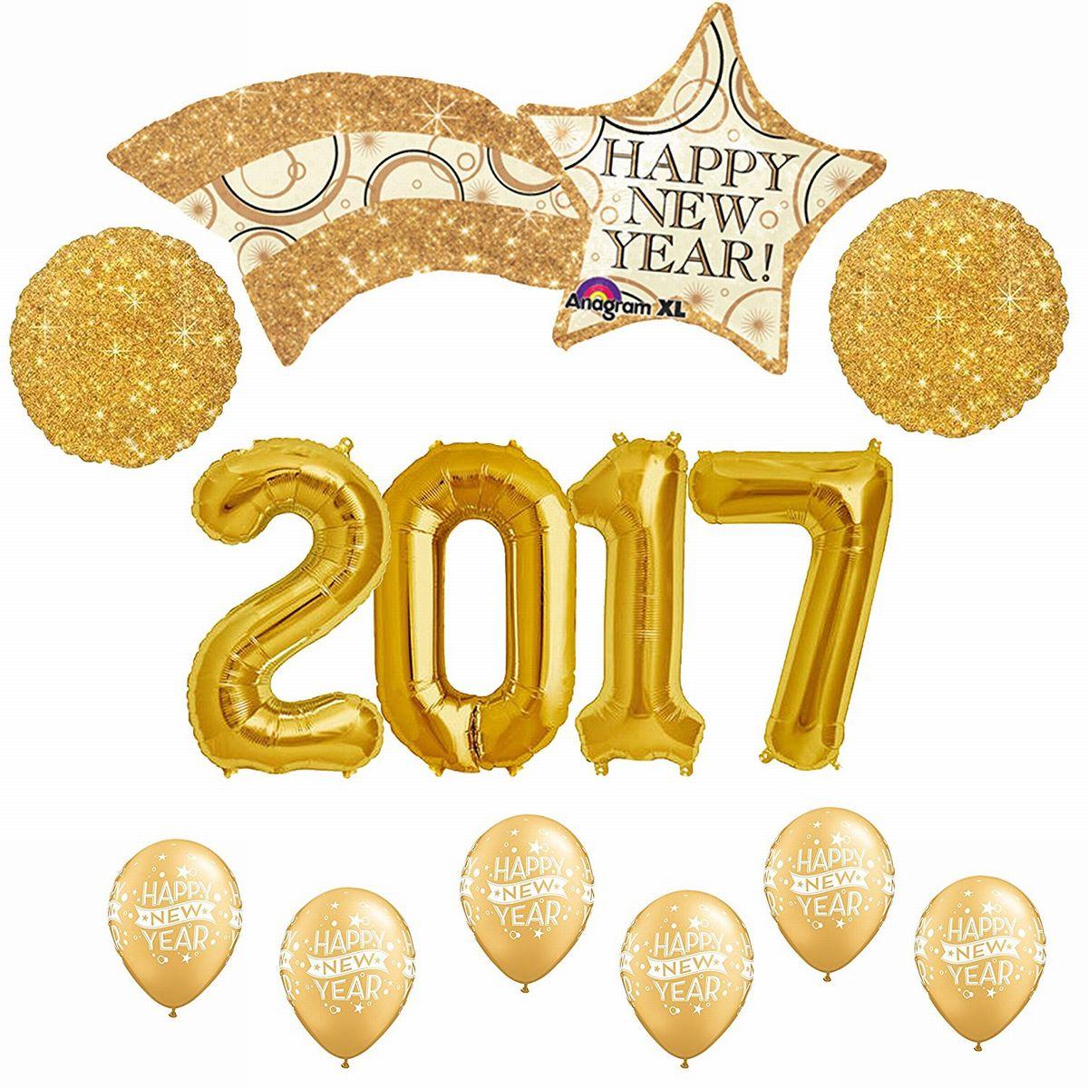 2017 バルーン 風船 金 ゴージャス 新年会 パーティ デコレーション 飾り 装飾 インテリア