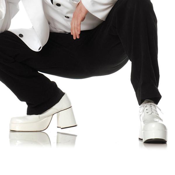 新生活 ステージ衣装 おやじバンド 白 メンズ ブーツ ピンプ(白) 大人用 ハロウィン
