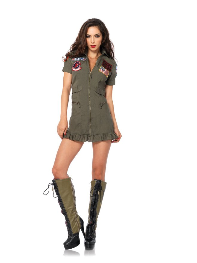 2fed0ae109a Sexy pilot military air force Halloween adult women air force movie top gun  toy flight costume