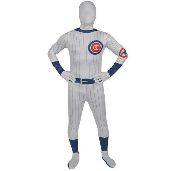 芝加哥小熊队身体紧身服装 cosplay 万圣节服装成人棒球大联盟职棒大联盟 MLB