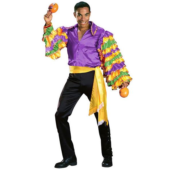 ルンバ 大人 男性用 サンバ コスチューム パープル ハロウィン 衣装 ダンサー コスプレ