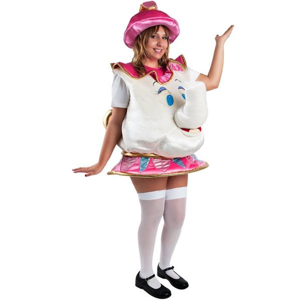 ポット夫人 ミセス・ポット 美女と野獣 衣装 キャラクター ミセスポットコスプレ 仮装 ハロウィン コスチューム 大人