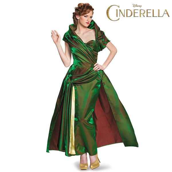 シンデレラ トレメイン 夫人 貫禄 の 玉虫色 ドレス 女性 大きい サイズ 継母 いじわる ハロウィン コスプレ