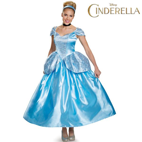 シンデレラ 舞踏会 ブルー ペプラム ドレス 大人用 ハロウィン コスプレ