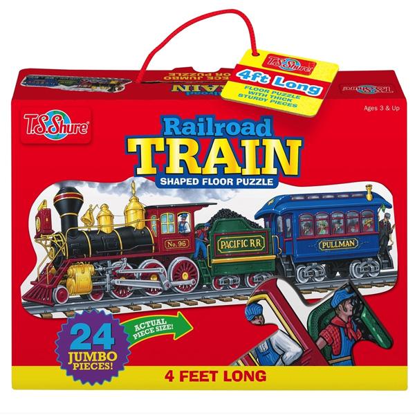 パズル 鉄道 電車のジャンボフロアパズル レイルロード トレイン パズル 知育玩具 T.S.Shure社製 おもちゃ プレイセット