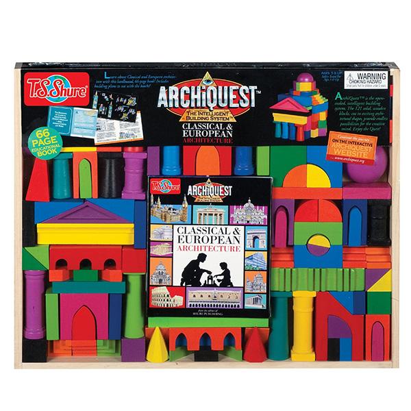 ブロック 積木 ヨーロッパの古い建築物 建物 ビルディング 知育玩具 T.S.Shure社製 おもちゃ プレイセット