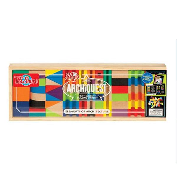 ブロック 積木 建築物 建物 木製ボックス入り 知育玩具 T.S.Shure社製 おもちゃ プレイセット
