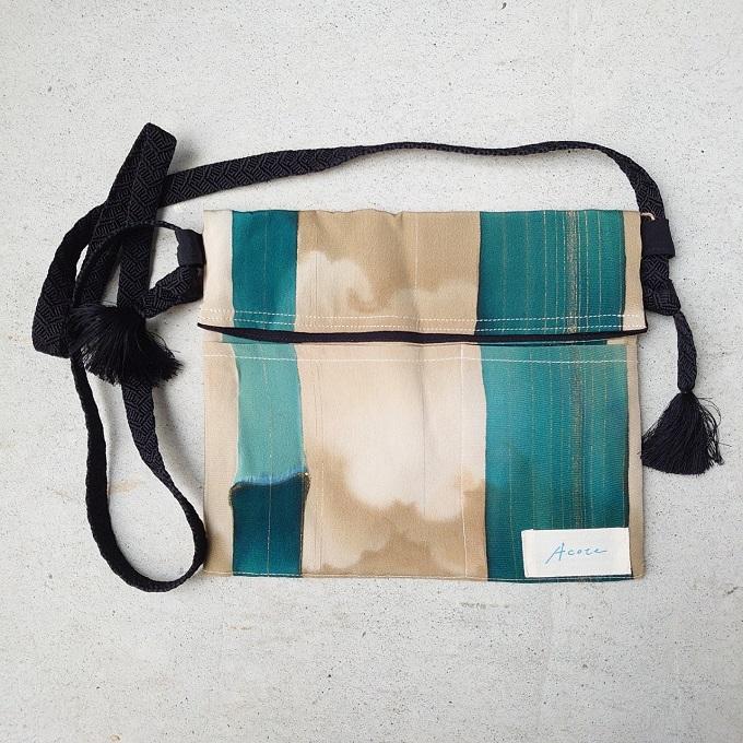 kimono reversible sacoche 並行輸入品 リバーシブル サコッシュ 黒 レトロ 当店は最高な サービスを提供します 竹柄 ブラック