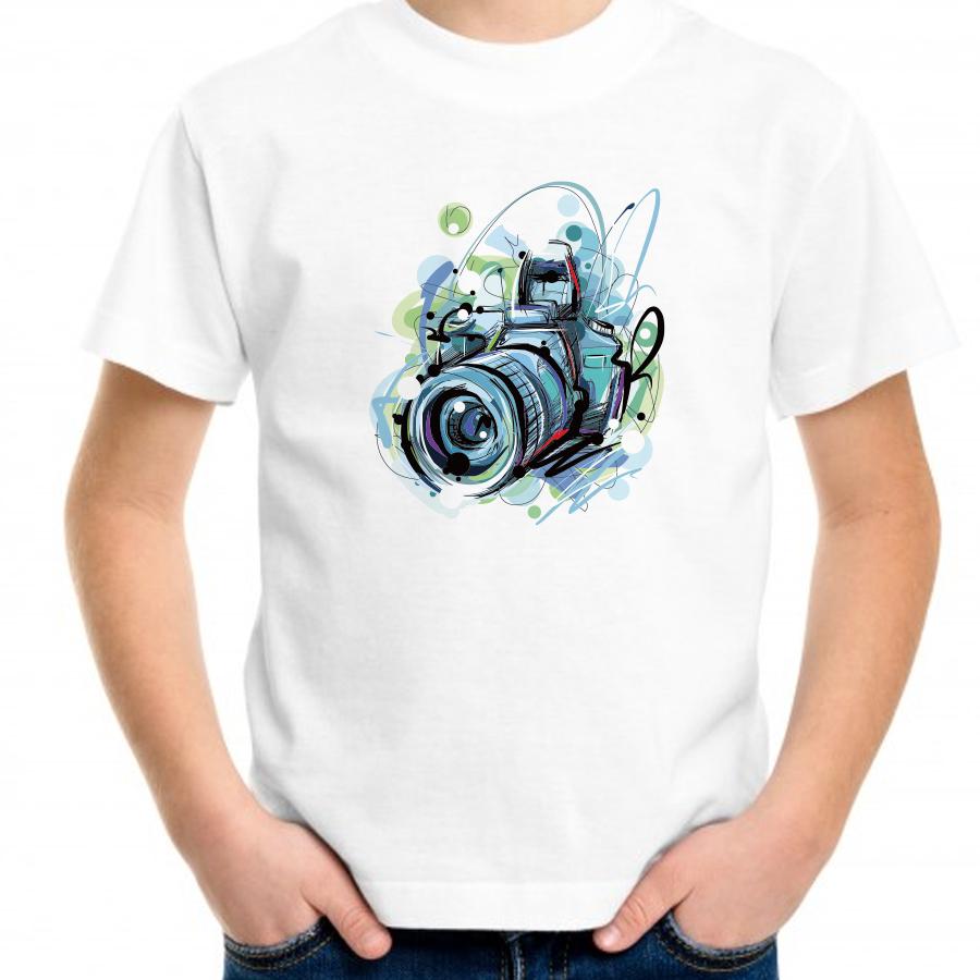 期間限定で特別価格 信頼 親子でお揃いコーデが出来るTシャツ カメラ柄プリントTシャツ 親子でお揃いコーデが出来るTシャツ ペアルック キッズ服 メンズ ジュニア服 レディース