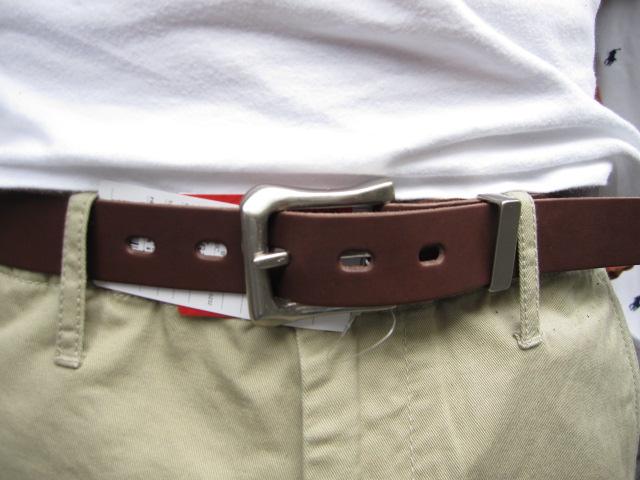 ACOUSTIC (acoustic) GARCON LEATHER BELT (belt Garson) fine Tochigi leather (leather) & cool buckle design!