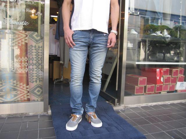 定番スキニージーンズ/新色BLUE WAY(ブルーウェイ)SKINNY DENIM PANTS(スキニー ストレッチデニム)【7DAYS ROCK SERIES】【5504 HARD VINTAGE(薄いUSEDブリーチ)】【日本製/送料無料】