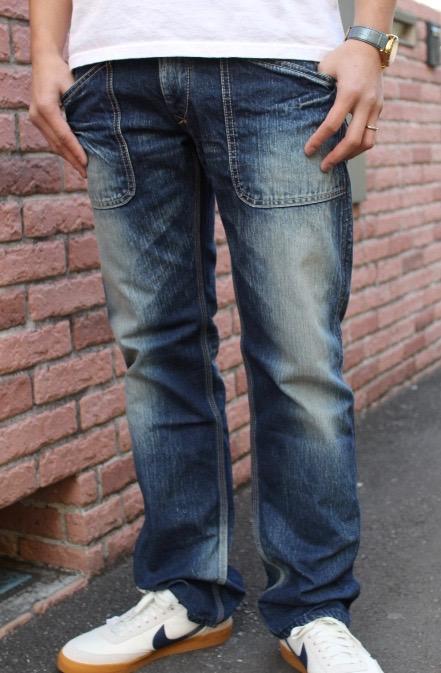 BLUE WAY(ブルーウェイ)6-POCKET DENIM WORK PANTS(6ポケット デニムワークパンツ オールドブルーブリーチ加工)カイハラ製 13.5oz国産デニム【日本製/送料無料】