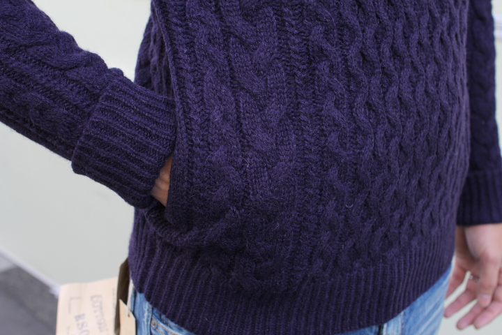 694216175f2 ... The cable knitting wool 100% man and woman combined use knit jersey-knit  jacket ...