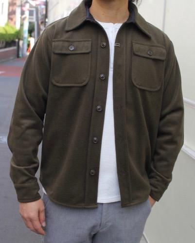 SMART SPICE(スマートスパイス)CPO JACKET(CPO ジャケット)ハンドポケット付き! 厚みのある暖かいウール/ポリエステル生地【OLIVE】冬新作送料無料