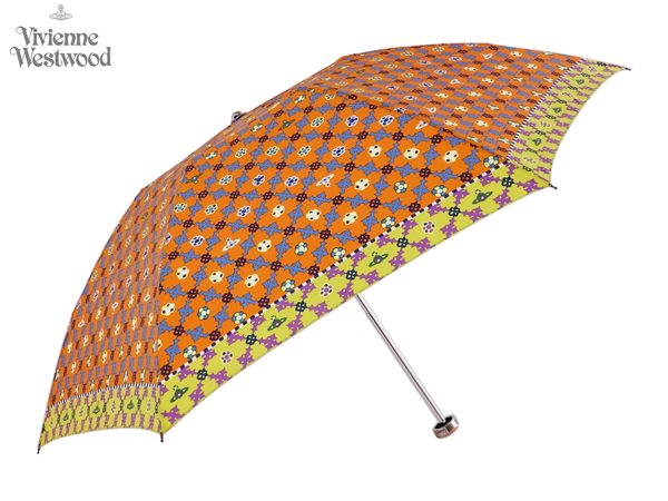 ヴィヴィアンウエストウッド Vivienne Westwood折りたたみ 雨傘16,200円以上で送料無料 無料ラッピング指定可 明日楽対応商品 v0819 【 プレゼント ブランド オーブ 傘 三つ折り 新作 レディース 】