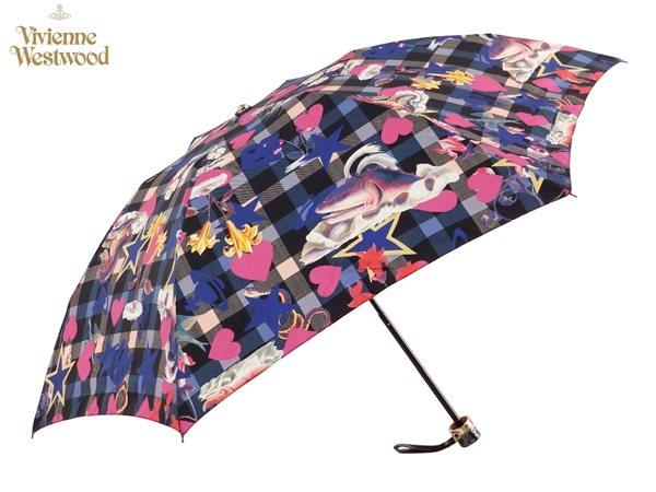 ヴィヴィアンウエストウッド Vivienne Westwood雨傘16,200円以上で送料無料 無料ラッピング指定可 明日楽対応商品 v0821 【 プレゼント ブランド オーブ 傘 三つ折り 新作 レディース 】