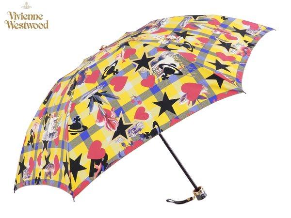 ヴィヴィアンウエストウッド Vivienne Westwood雨傘16,200円以上で送料無料 無料ラッピング指定可 明日楽対応商品 v0824 【 プレゼント ブランド オーブ 傘 三つ折り 新作 レディース 】