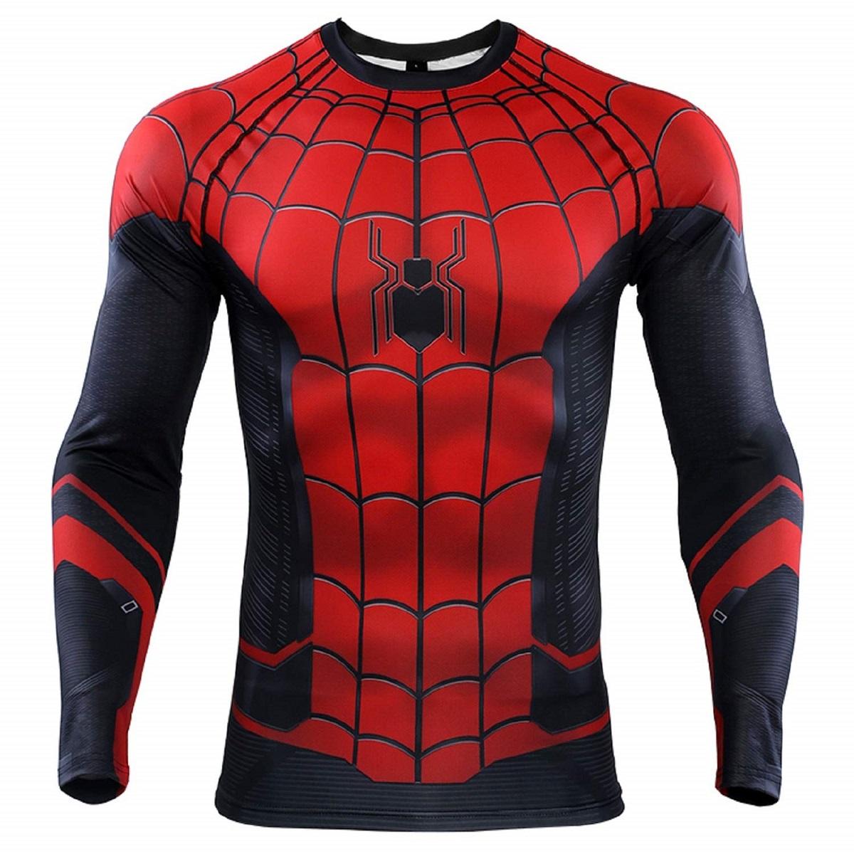 スパイダーマン Mサイズ トレーニング用 ハロウィーン用 フィットシャツ コスチューム