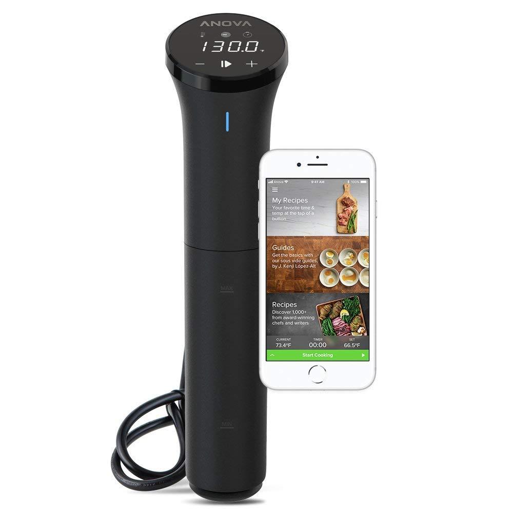 低温調理器ならANOVA 数量は多 最新小型Nano アプリで操作可能 日本語説明書付 アノーバ ナノ Anova Nano 750W 低温調理器 新作 お料理用 水温制御クッカー 真空調理器 Culinary anova Cooker アノバ サーキュレーター 1000Wより最新小型 4.2 Bluetooth USA正規品 Precision