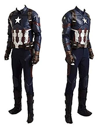 キャプテン・アメリカ ハロウィーン用 高級コスプレ PUスーツ コスチューム