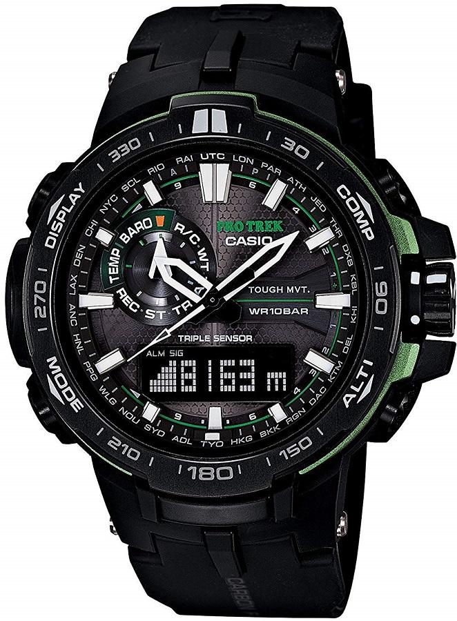 [カシオ]CASIO 腕時計 PROTREK プロトレック PRW-6000Y-1A ブラック×グリーン メンズ