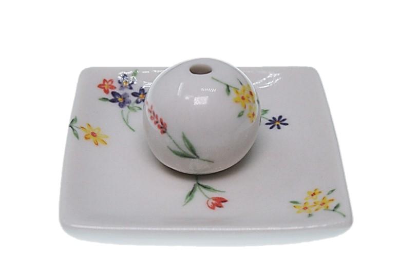 定番キャンバス 送料無料 ブーケ 小角皿 陶器 海外輸入 ACSWEBSHOPオリジナル お香立て