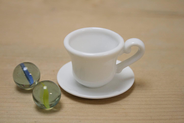 返品送料無料 日本製 製造直売 ミニチュア陶器 NO.199 カップ ランキング総合1位 白いミニチュア ACSWEBSHOPオリジナル ミニチュア食器 ソーサー