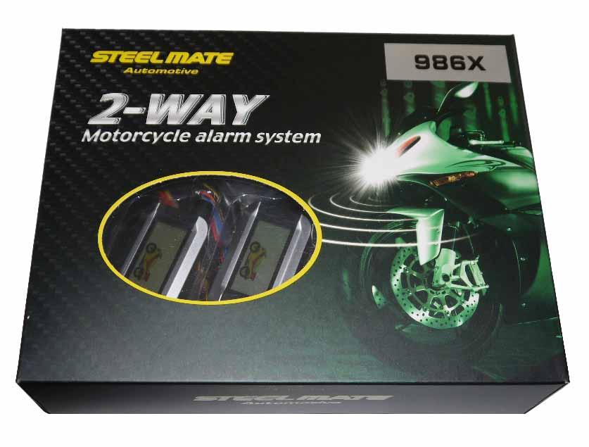 steelmate スティールメイト 986X バイク用 2WAY エンジンスターター付きセキュリティー・防犯機 送料無料 1年間保証付き バイクセキュリティ 人気商品