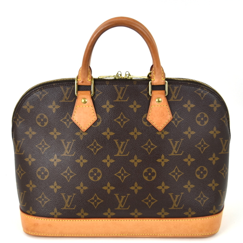 LOUIS VUITTON LV 高級 ファッション通販 バック カバン 鞄 革 茶 中古 ルイヴィトン アクトワン ハンドバッグ モノグラム アルマ M51130 バッグ レザー ブラウン レディース