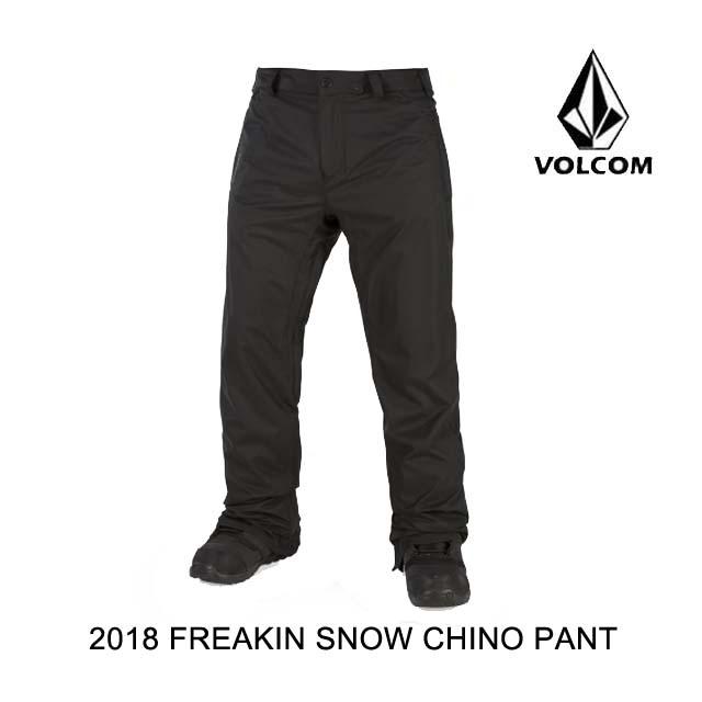 【在庫僅少】 2018 VOLCOM VOLCOM ボルコム BLK パンツ PANT FREAKIN SNOW CHINO PANT BLK, ぱいぷやさん:84edafbc --- bibliahebraica.com.br