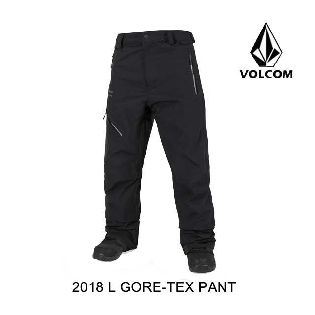 2018 VOLCOM ボルコム エルゴア パンツ L GORE-TEX PANT BLK