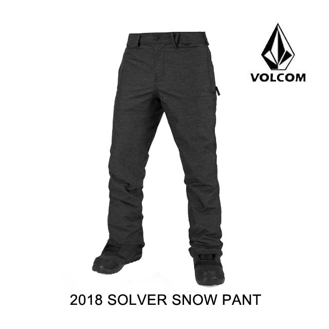 2018 VOLCOM ボルコム パンツ SOLVER SNOW PANT BLK