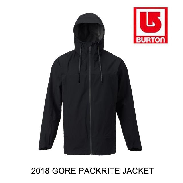2018 BURTON バートン ジャケット GORE PACKRITE JACKET TRUE BLACK