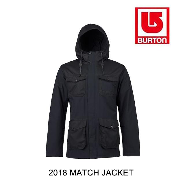 2018 BURTON バートン ジャケット MATCH JACKET TRUE BLACK
