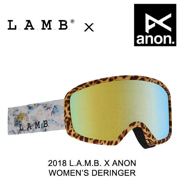 2018 BURTON バートン ANON アノン L.A.M.B. ラム コラボ ゴーグル WOMEN'S GOGGLE DERINGER L.A.M.B.