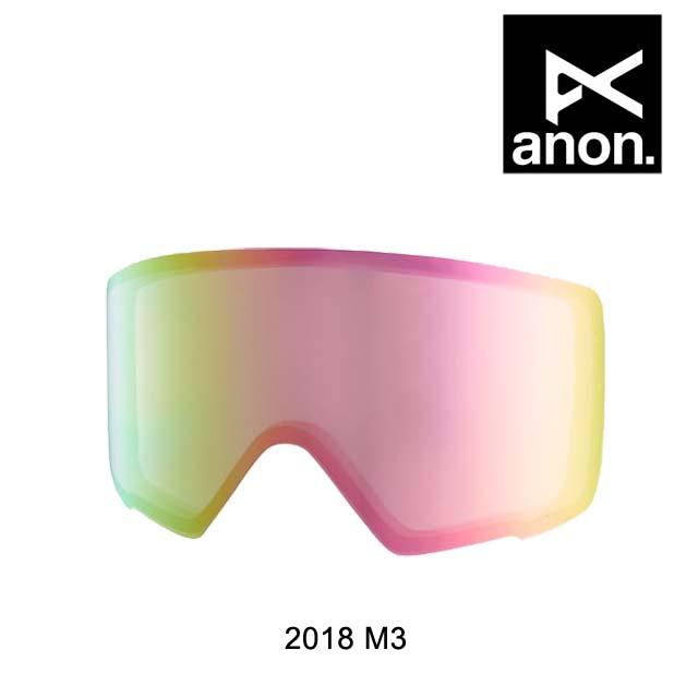 2018 BURTON バートン ANON アノン ゴーグル スペアレンズ GOGGLE M3 LENS PINK ICE JAPAN