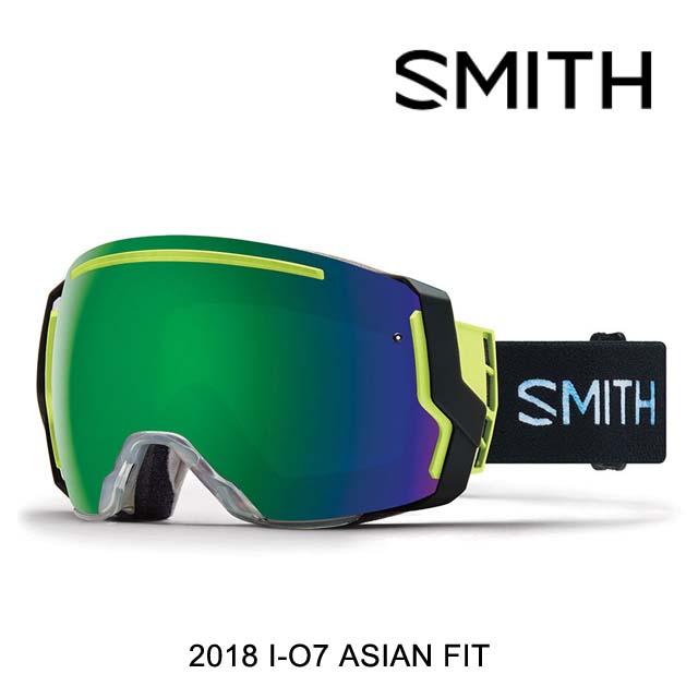 2018 SMITH スミス ゴーグル GOGGLE I/O7 SQUALL/CHROMAPOP SUN GREEN MIRROR+CHROMAPOP STORM ROSE FLASH ASIAN FIT
